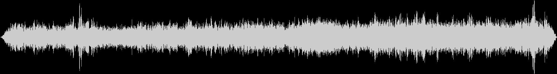 モノレール停車中の未再生の波形