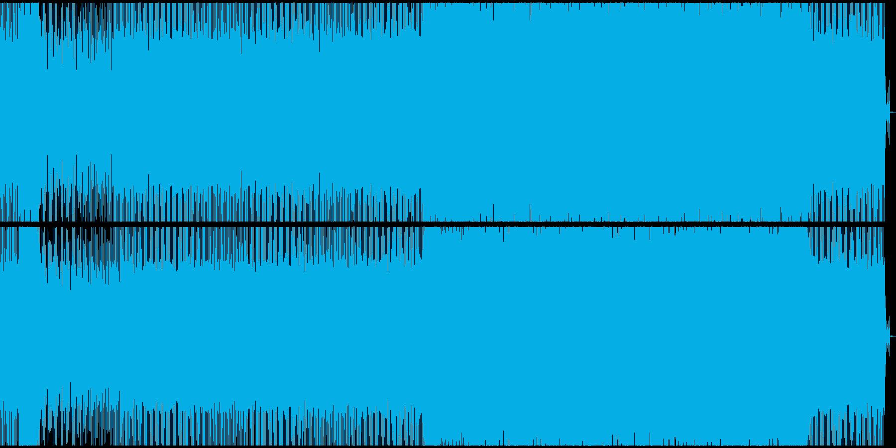 シュールな感じのテクノサウンドの再生済みの波形