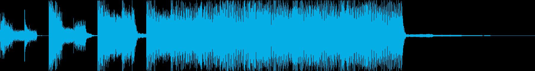 コミカルなテクノポップジングルの再生済みの波形