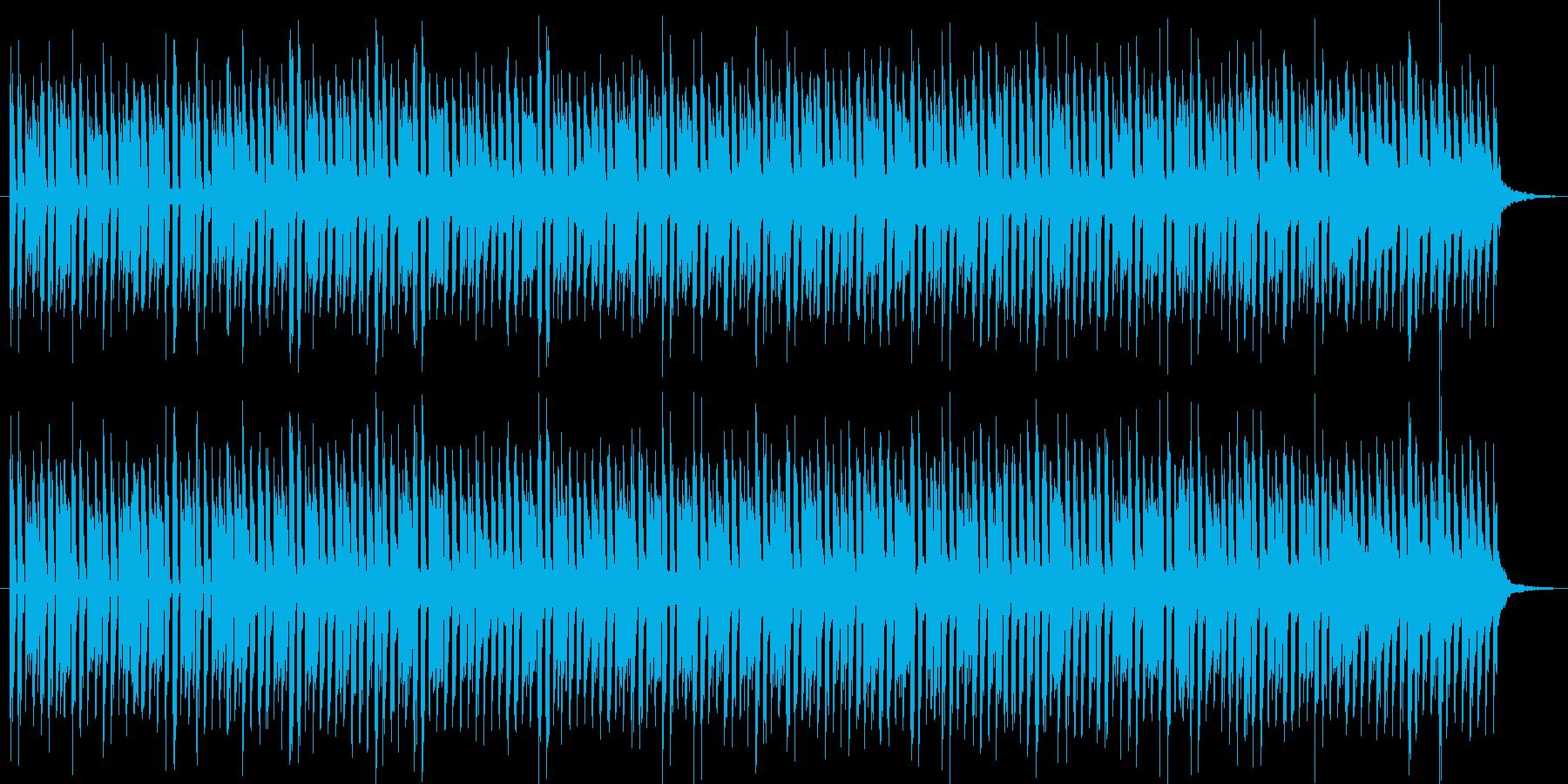 ポップでリズミカルなテクノBGMの再生済みの波形