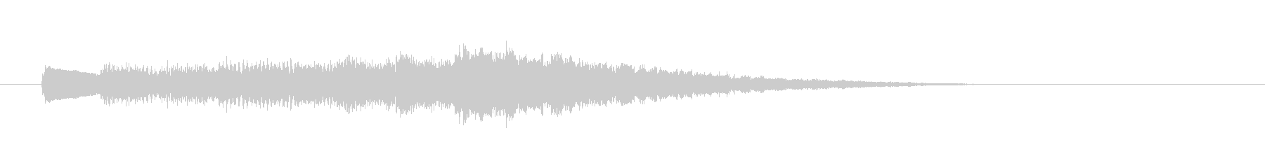 タラララン(呼び出し音、お知らせ、発車)の未再生の波形