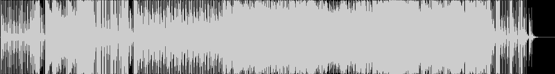 ダンサブルでポップな雰囲気のBGMの未再生の波形