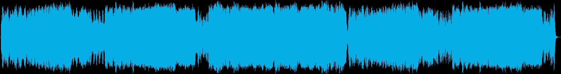 荒涼とした草原オーケストラフルートメインの再生済みの波形