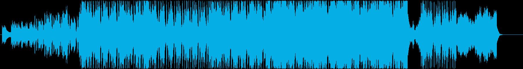 ストリングスが壮大なアラビアンロックの再生済みの波形