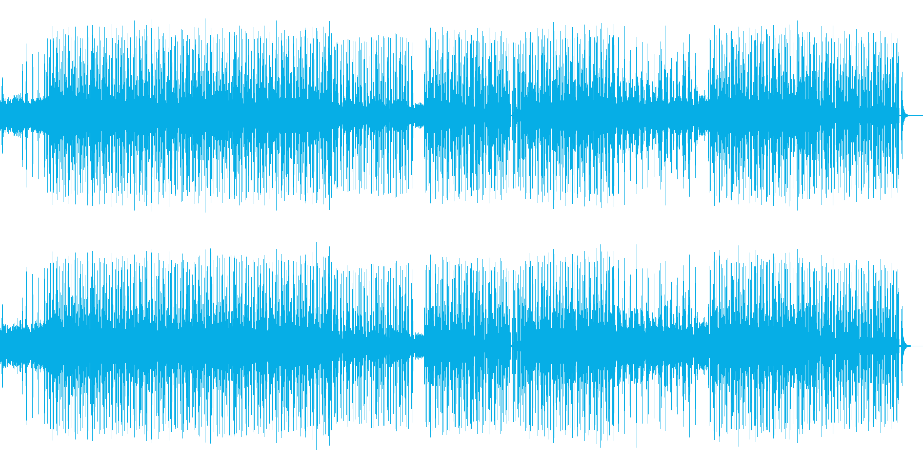 コーラスが印象的なハウスミュージックの再生済みの波形