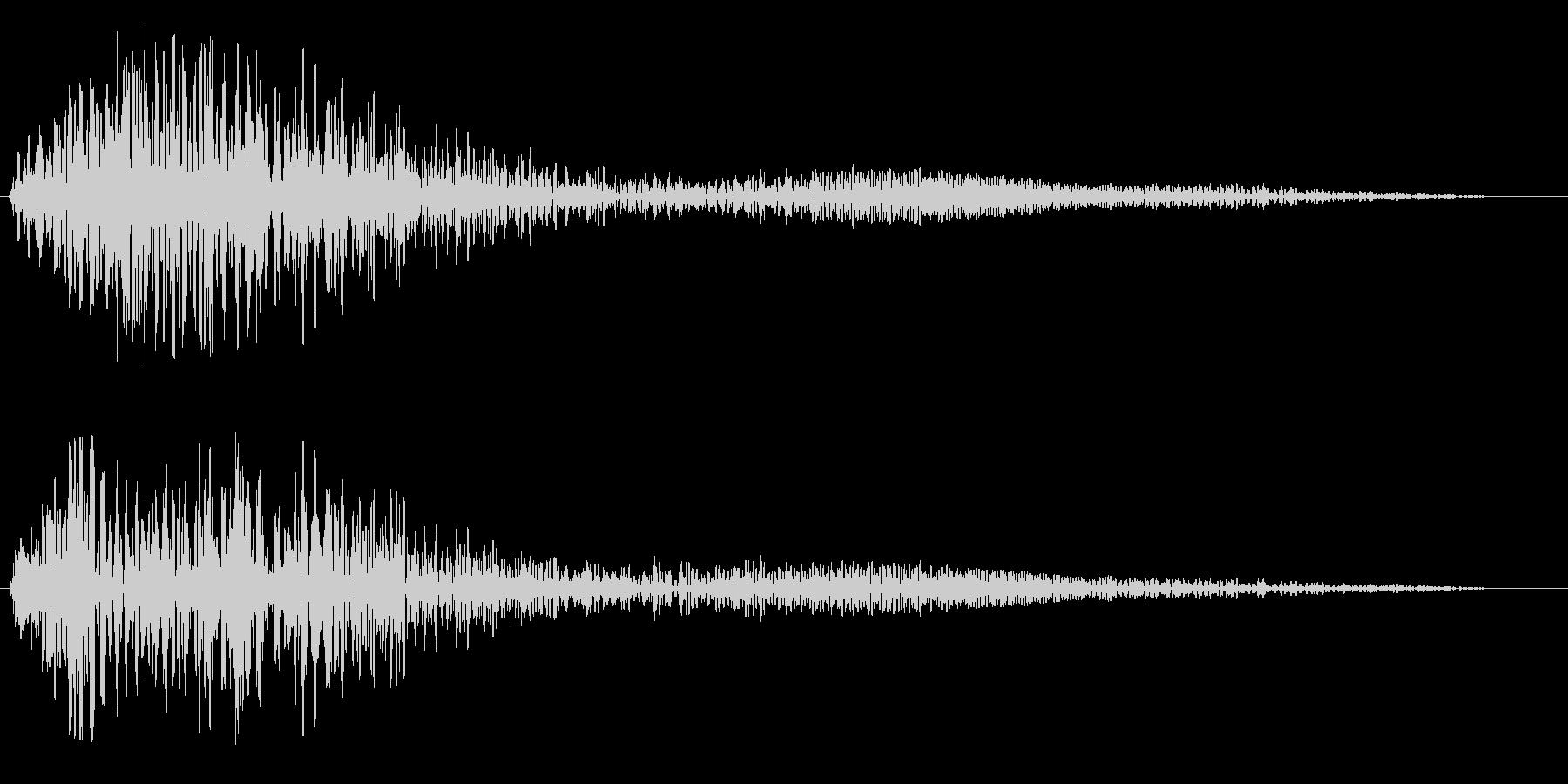 ポワーンと優しく響く音の未再生の波形