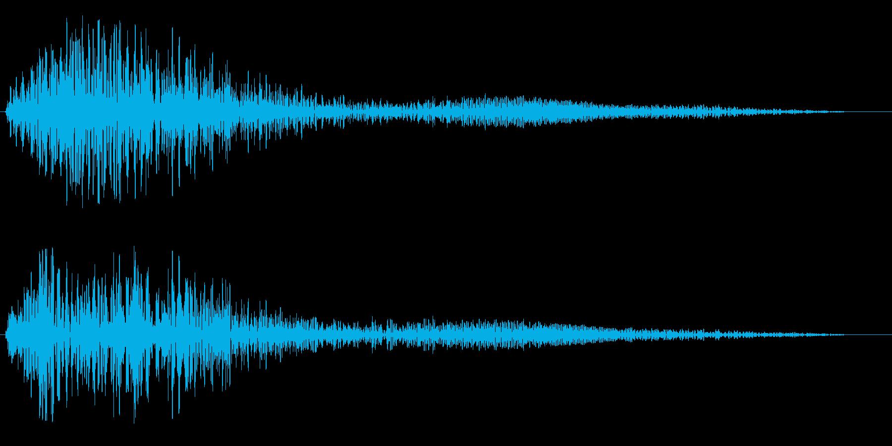 ポワーンと優しく響く音の再生済みの波形