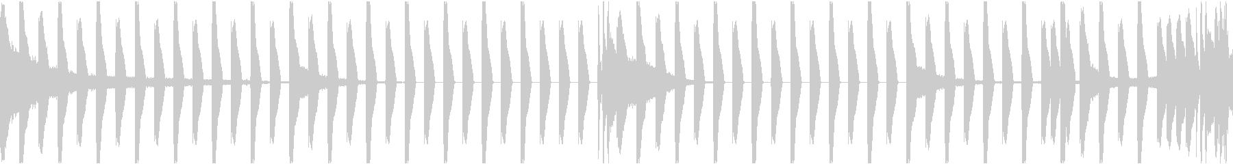 使い勝手のいいリズムループBGMの未再生の波形