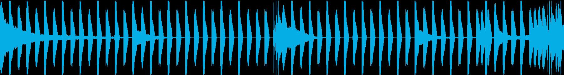 使い勝手のいいリズムループBGMの再生済みの波形