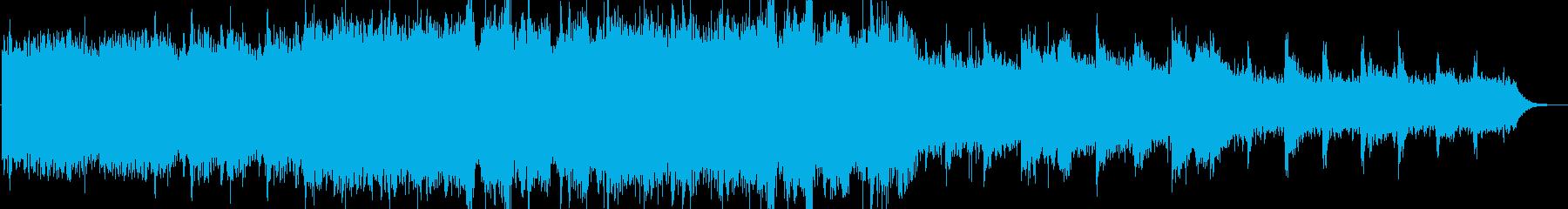 輝いている様な優しいヒーリングBGMの再生済みの波形
