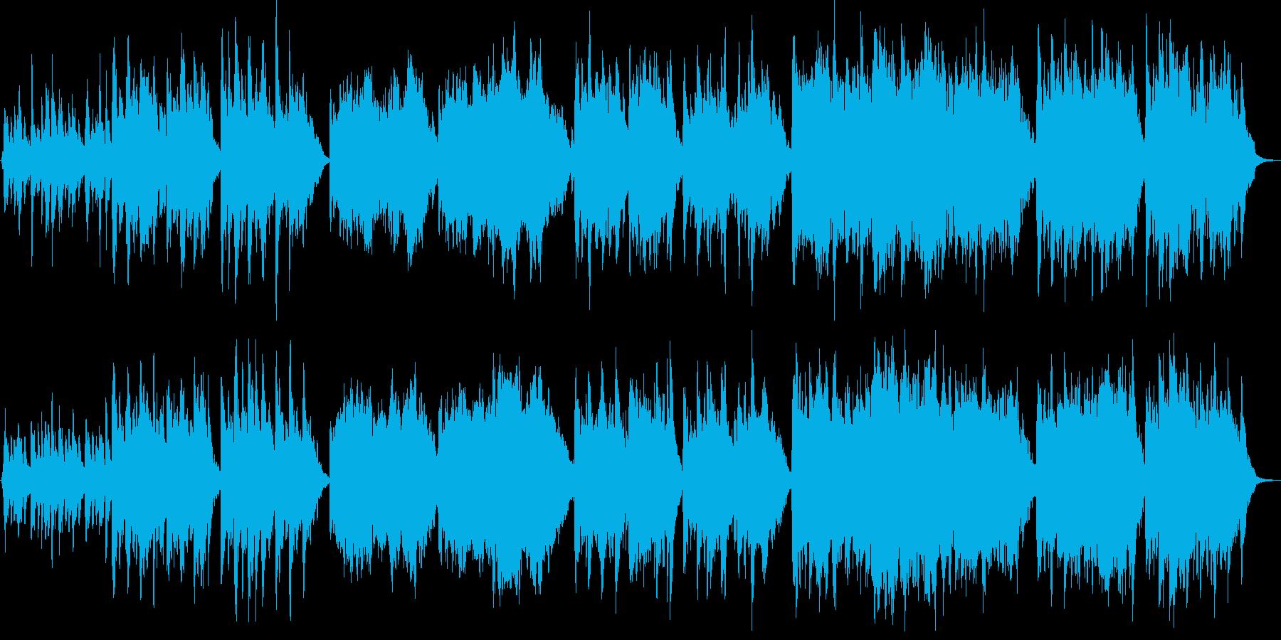 ピアノとコーラスの先導者によるオー...の再生済みの波形