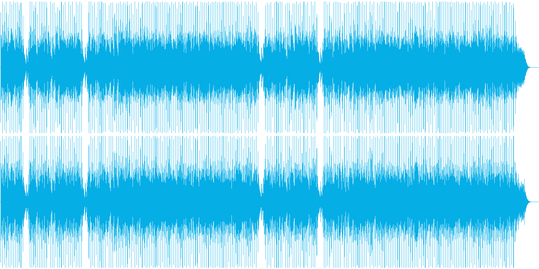 おしゃれで近未来的なBGMの再生済みの波形