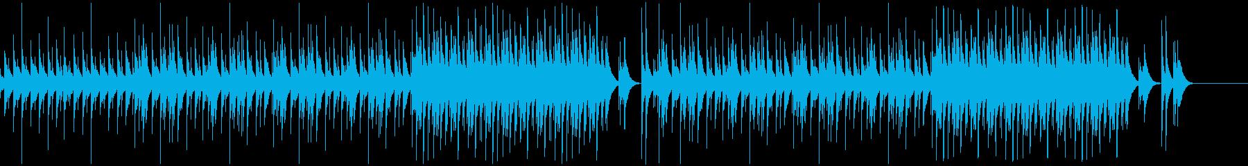 かわいい、ほのぼの、木琴の再生済みの波形