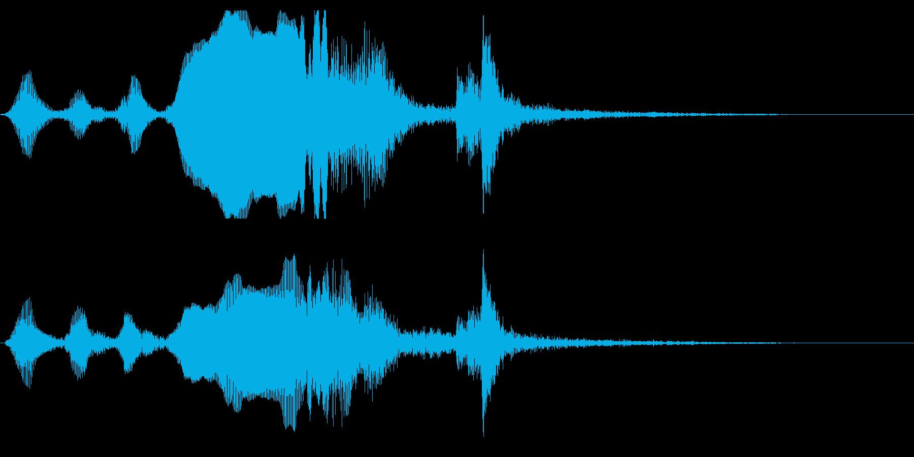 シンプルで不思議なジングルの再生済みの波形