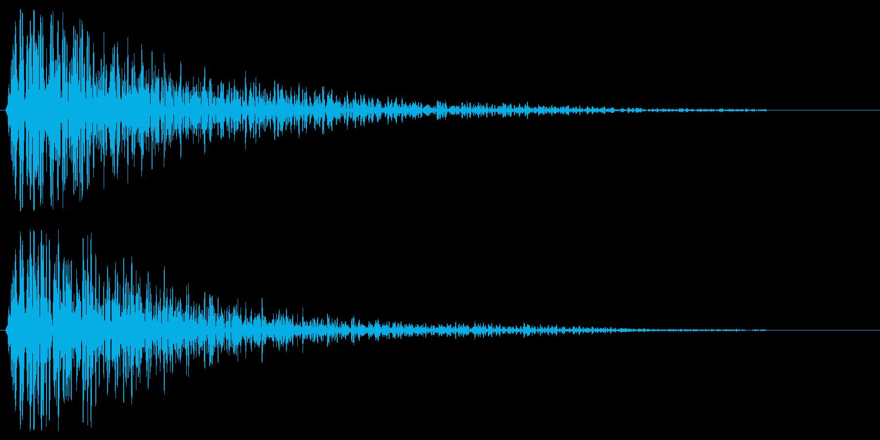ガーンという暗い金属音の再生済みの波形