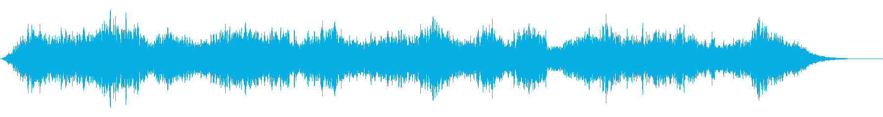 擬似人声音を逆再生したかのような音の再生済みの波形