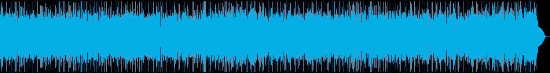エレキギターソロのロックンロールナンバーの再生済みの波形
