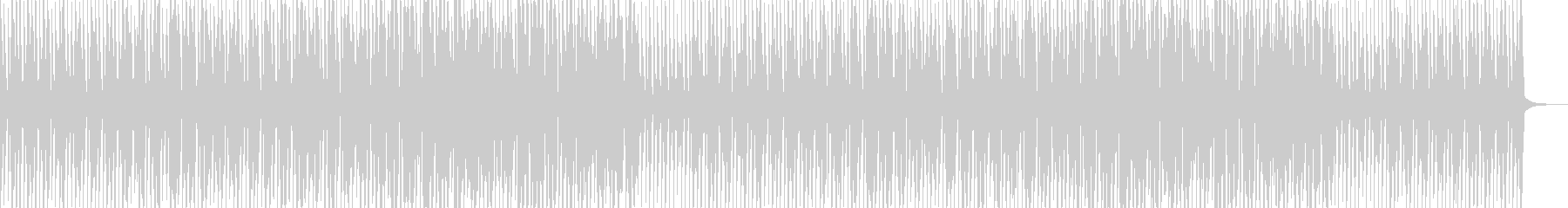ほのぼのポップな日常系の未再生の波形
