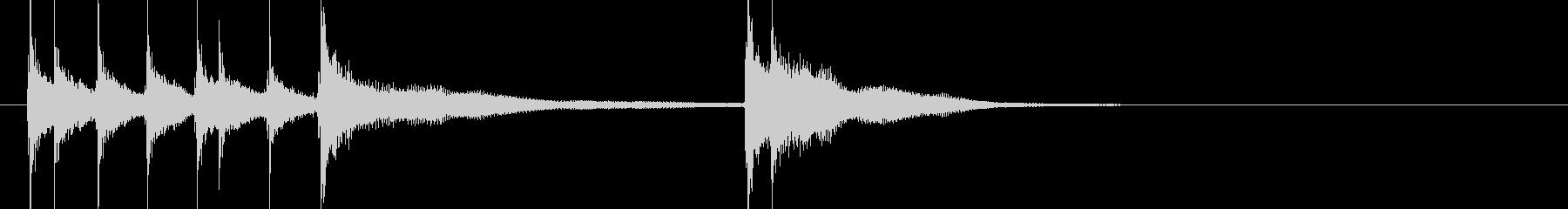 和風三味線ジングル 荘厳2 三味線のみの未再生の波形