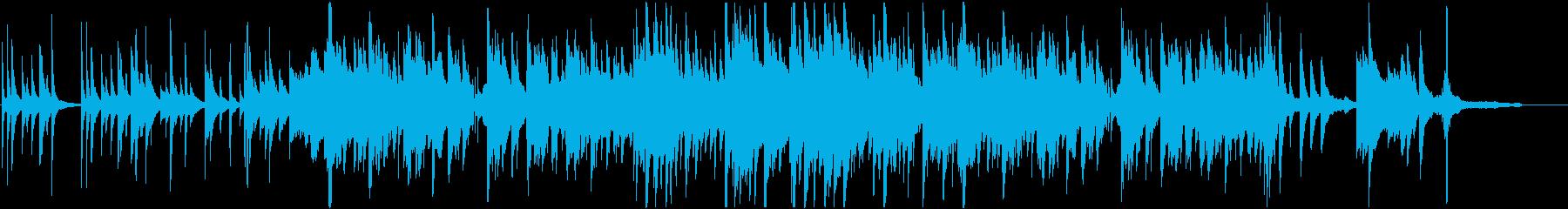 和楽器とピアノの美しい和風曲BGMの再生済みの波形