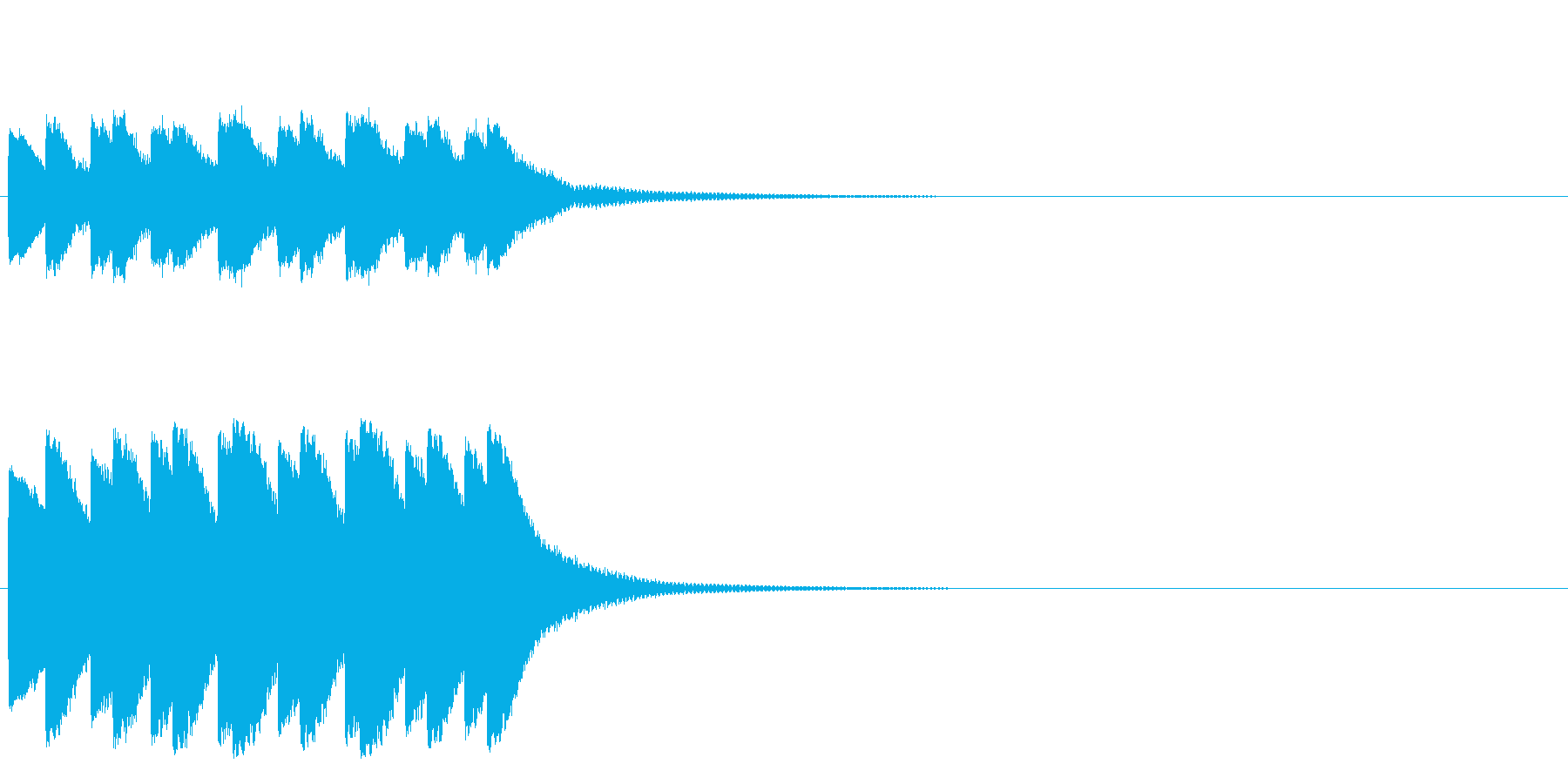 ティロティロティロティロ・・・(ベル)の再生済みの波形