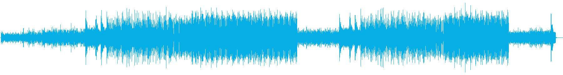 番組オープニングシンセサイザーテクノ風の再生済みの波形