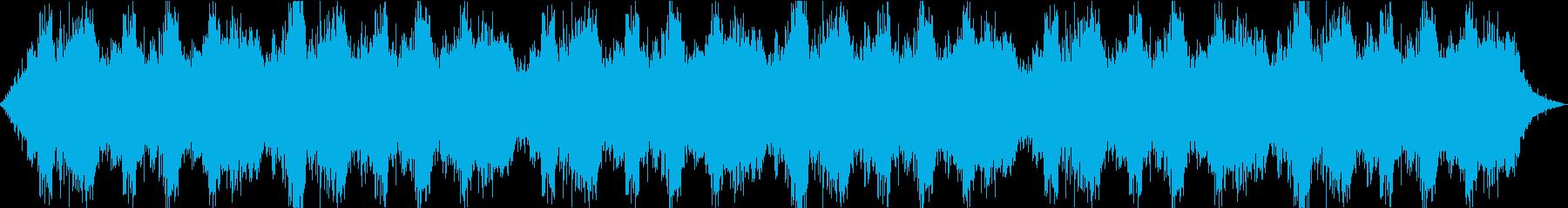 夜の廃墟などで使える汎用性の高い環境音楽の再生済みの波形