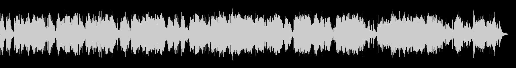 ヒーリング系ピアノ即興演奏の未再生の波形