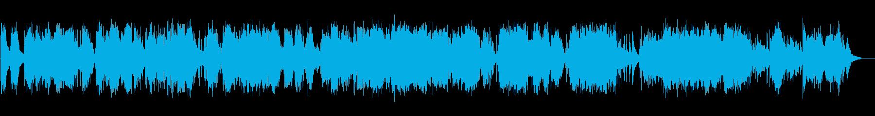 ヒーリング系ピアノ即興演奏の再生済みの波形