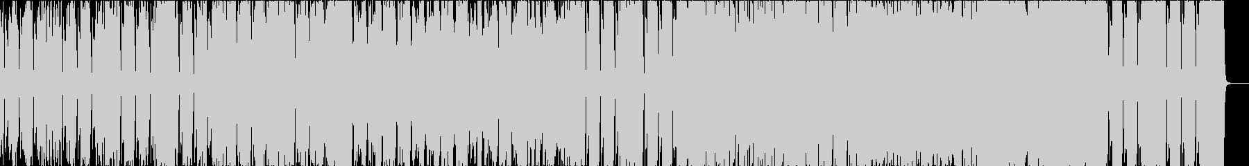 オーケストラによる戦闘曲の未再生の波形