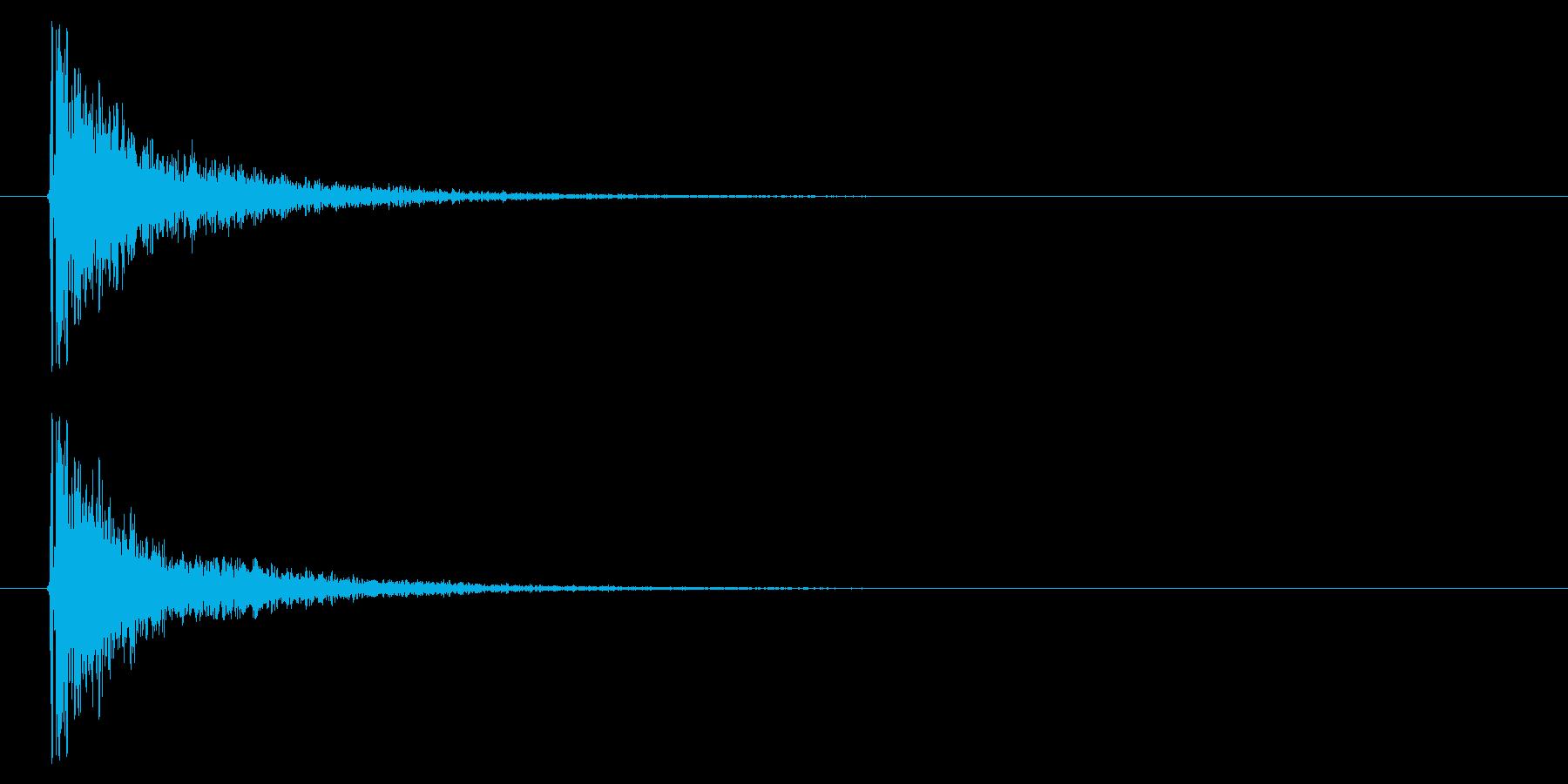 打撃08-5の再生済みの波形