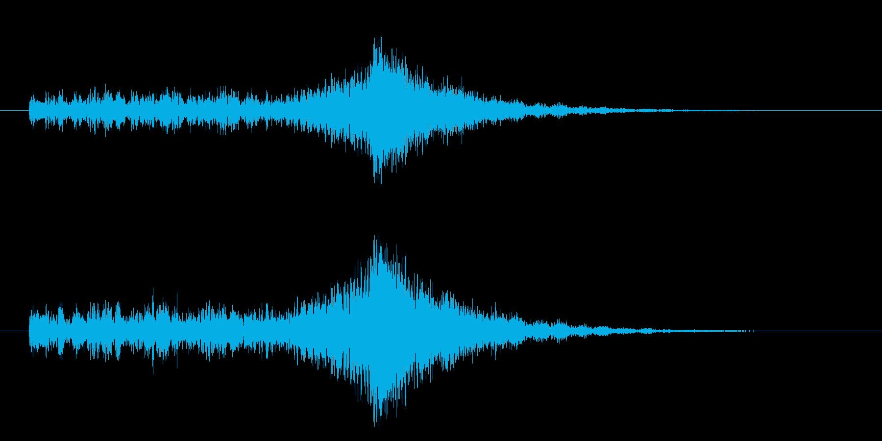 ダダダダーン(迫り来る緊迫音)の再生済みの波形
