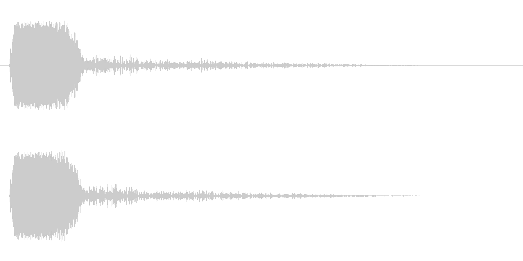チュン!(シンプルに鳴く小鳥の声)の未再生の波形