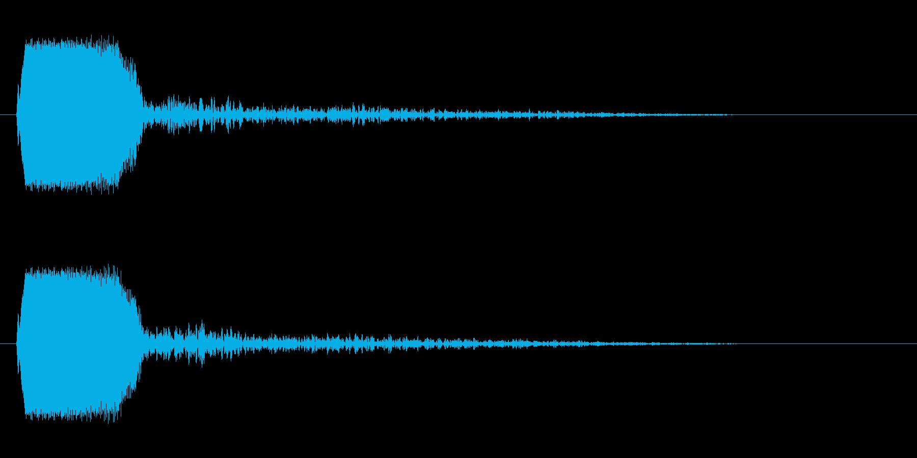 チュン!(シンプルに鳴く小鳥の声)の再生済みの波形