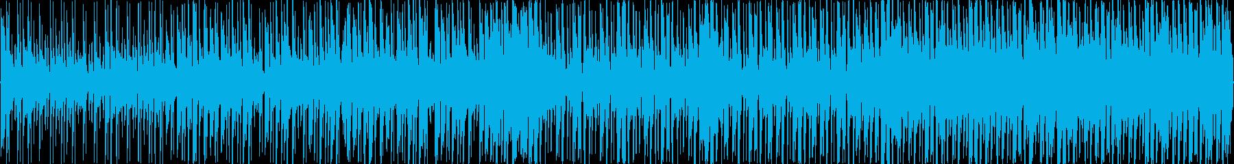 リズミカルで少し焦らせるようなBGMの再生済みの波形