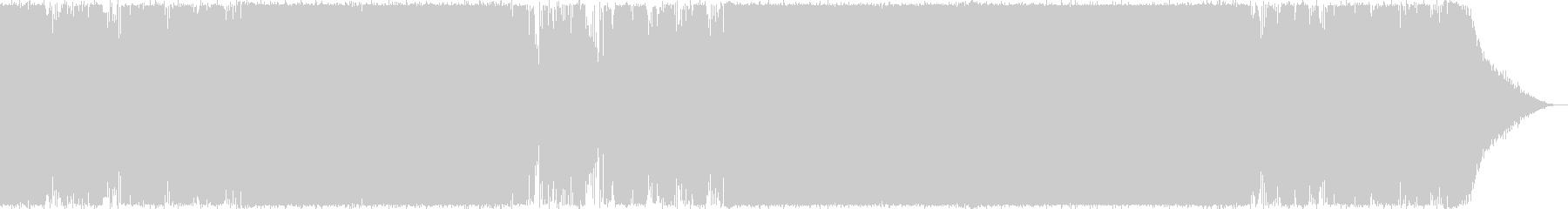 Youtube・華やかなトロピカルハウスの未再生の波形