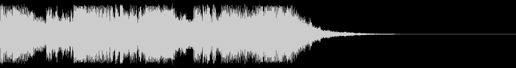 ステータス更新時のサウンドの未再生の波形
