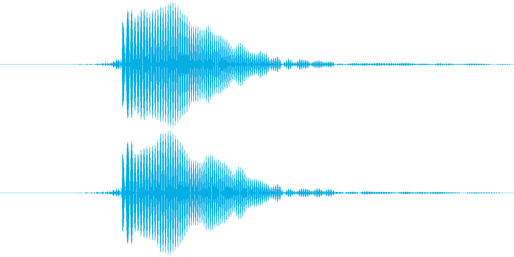 ピッ (とても高い) テロップ音など の再生済みの波形