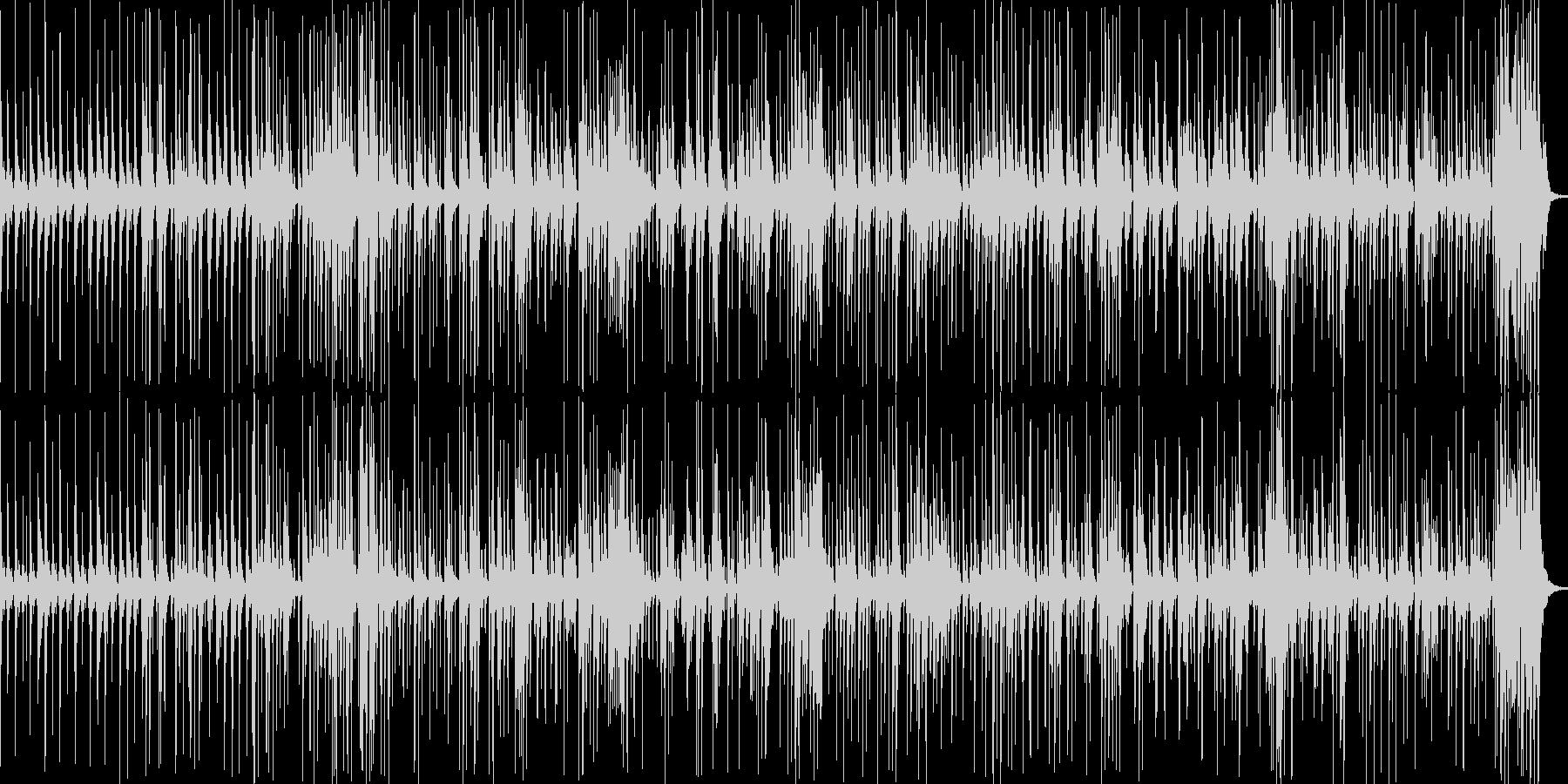 不思議でオシャレな曲の未再生の波形