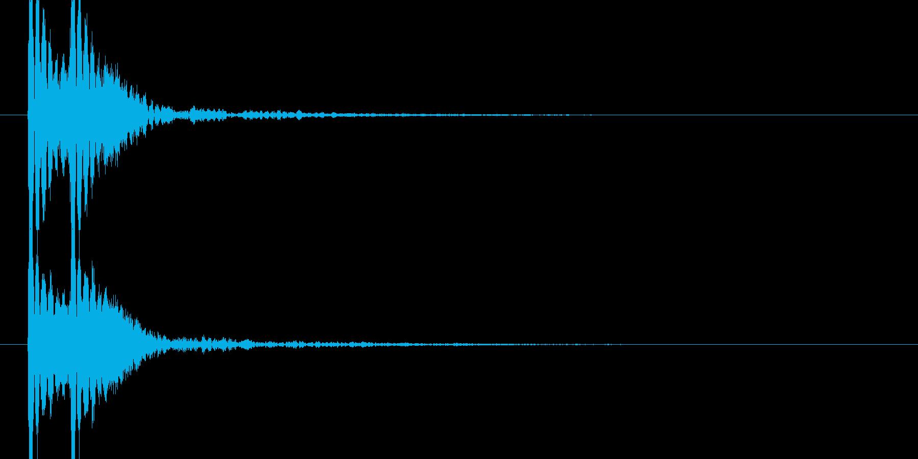 トントン(高めの音の和太鼓)の再生済みの波形