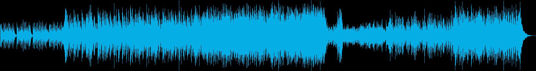 ピチカートとフルートの軽快なオーケストラの再生済みの波形