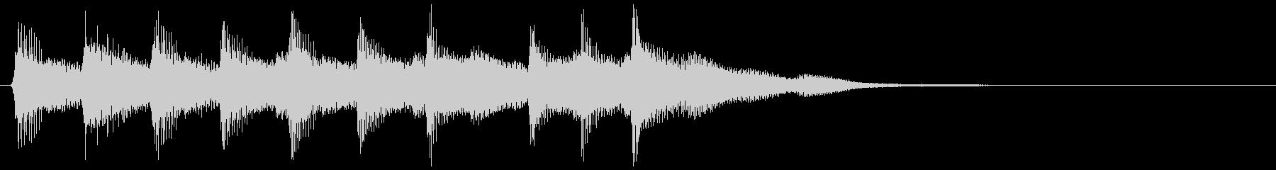 ピコピコ音のファンファーレ 勝利 クリアの未再生の波形