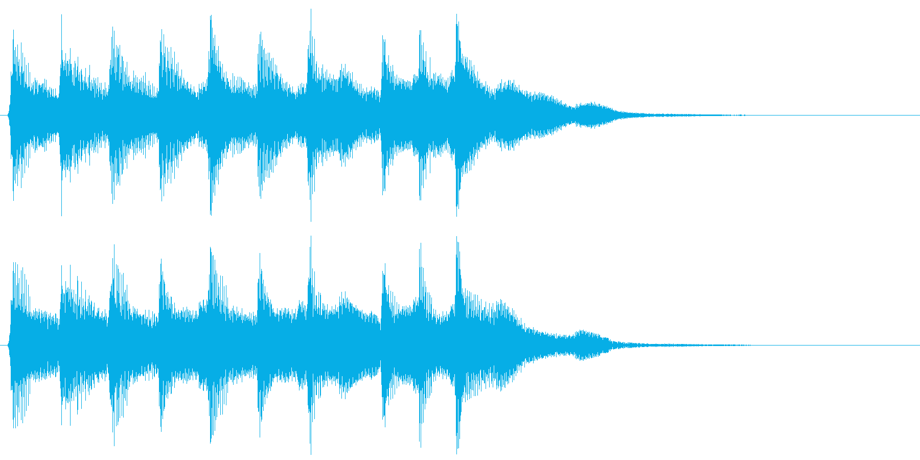 ピコピコ音のファンファーレ 勝利 クリアの再生済みの波形