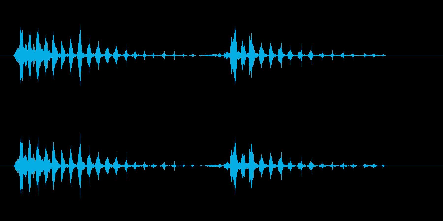 笑っている漫画のマウスの再生済みの波形
