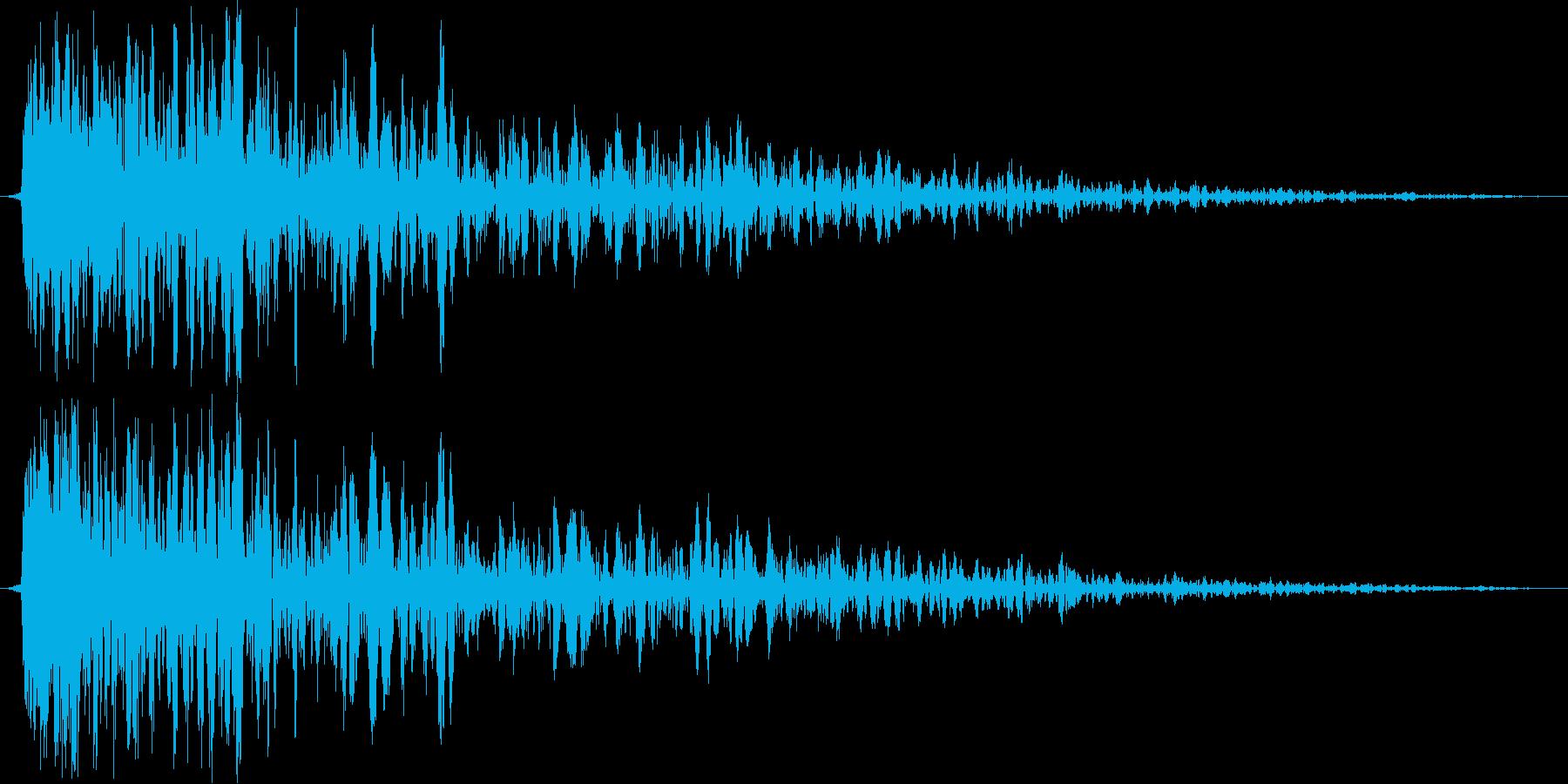 ギュン(金属系効果音)の再生済みの波形