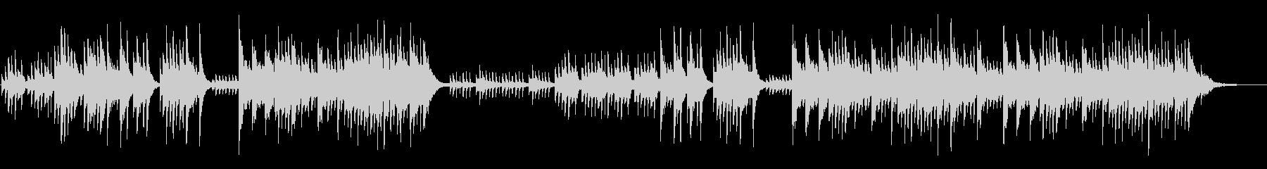 優しいメロディの新感覚ヒーリングピアノの未再生の波形