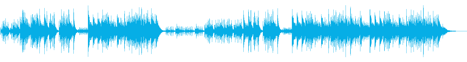 優しいメロディの新感覚ヒーリングピアノの再生済みの波形