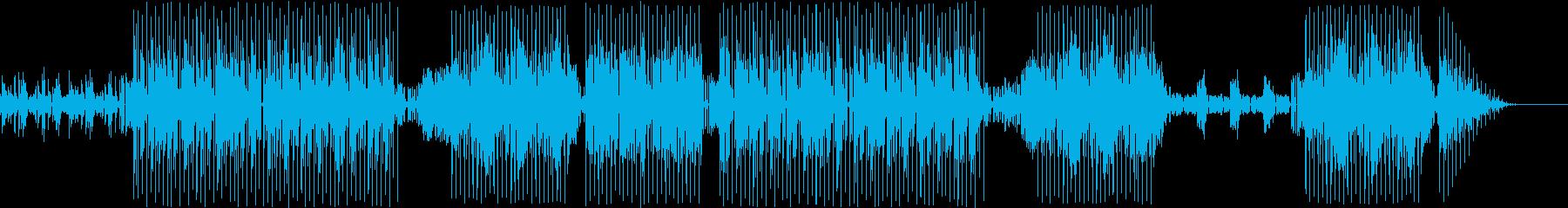躍動感あるアクションシーン向けダンス曲の再生済みの波形
