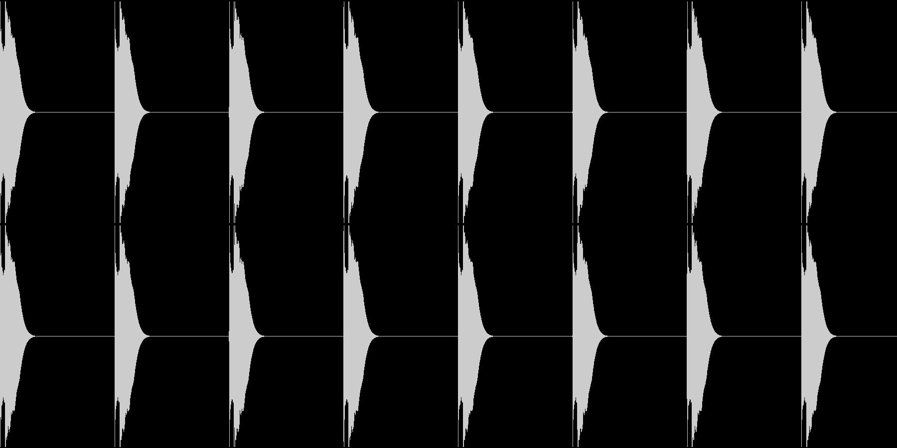 ピッピッピッピッの未再生の波形