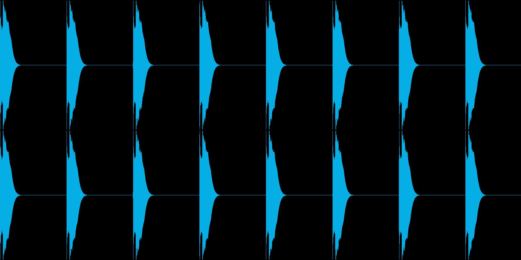 ピッピッピッピッの再生済みの波形
